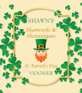 Holiday Wine Label - Shamrock Frame