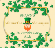Holiday Beer Can Label - Shamrock Frame
