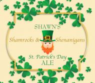 Holiday Beer Can Label - Shamrock Frame
