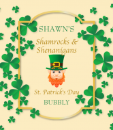 Holiday Champagne Label - Shamrock Frame