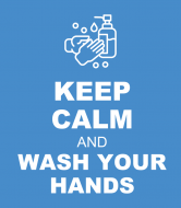 Wine Label - Keep Calm and Wash Your Hands