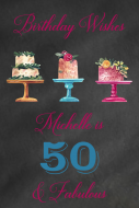 Birthday Mini Wine Label - Birthday Cake Wishes