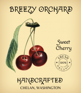 Wine Label - Handcrafted Cherry