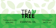 Dropper Bottle Label - Tea Tree Oil