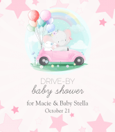 Baby Wine Label - Drive-By Baby Shower for Girl