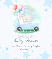 Baby Wine Label - Drive-By Baby Shower for Boy