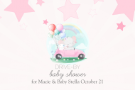 Baby Mini Wine Label - Drive-By Baby Shower for Girl