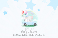 Baby Mini Wine Label - Drive-By Baby Shower for Boy