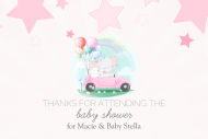 Baby Gift Tag - Drive-By Baby Shower for Girl