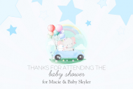 Baby Gift Tag - Drive-By Baby Shower for Boy