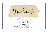 Graduations Mini Champagne Label - Graduate Cheers