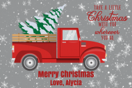 Holiday Gift Tag - Retro Red Truck Christmas