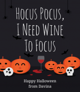 Holiday Wine Label - Hocus Pocus