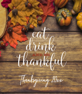 Holiday Wine Label - Eat Drink and Be Thankful
