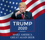 Expressions Beer Label - Trump 2020