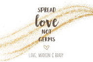 Wedding Sticker - Spread Love Not Germs