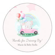 Baby Sticker - Drive-By Baby Shower for Girl
