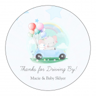 Baby Sticker - Drive-By Baby Shower for Boy