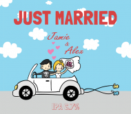 Wedding Beer Label - Just Married