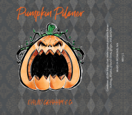 Holiday Beer Can Label - Angry Pumpkin