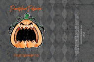 Holiday Growler Label - Angry Pumpkin