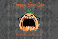 Mini Wine Label - Angry Pumpkin