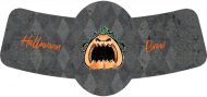 Holiday Bottle Neck Label - Angry Pumpkin