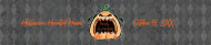 Holiday Water Bottle Label - Angry Pumpkin