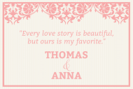 Wedding Mini Wine Label - Love Story Wedding
