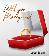 Expressions Wine Label - Will You Marry Me