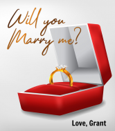 Expressions Champagne Label - Will You Marry Me