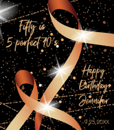 Birthday Wine Label - Ribbon and Lights