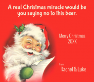 Holiday Beer Label - Christmas Miracle