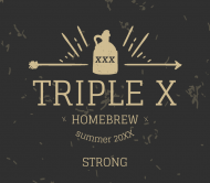 Expressions Beer Label - Triple X