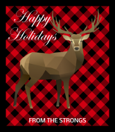 Holiday Champagne Label - Buffalo Plaid