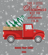 Holiday Cider Label - Retro Red Truck Christmas