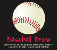 Beer Label - Baseball Brew