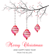 Holiday Wine Label - Decorated Branch
