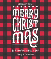 Holiday Wine Label - Flannel Greeting