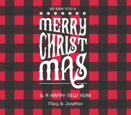 Holiday Beer Label - Flannel Greeting