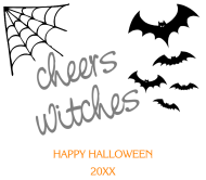 Holiday Beer Label - Cheers Witches