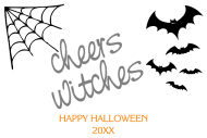 Holiday Mini Wine Label - Cheers Witches