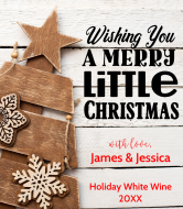 Holiday Wine Label - Wishing You A Merry Little Christmas