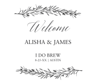 Wedding Beer Can Label - Branches
