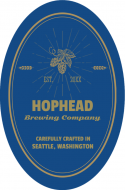 Expressions Oval Beer Label - Hophead