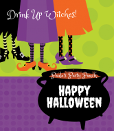 Holiday Wine Label - Witches Brew