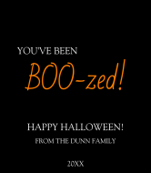 Holiday Liquor Label - BOO-zed