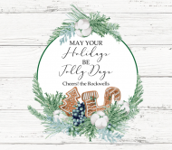 Holiday Beer Can Label - Gingerbread Wishes