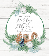 Holiday Champagne Label - Gingerbread Wishes