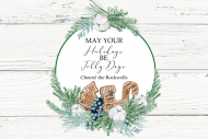 Holiday Mini Wine Label - Gingerbread Wishes